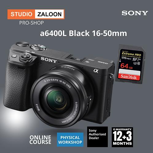 Sony Alpha a6400L BLACK Mirrorless Digital Camera with 16-50mm Lens