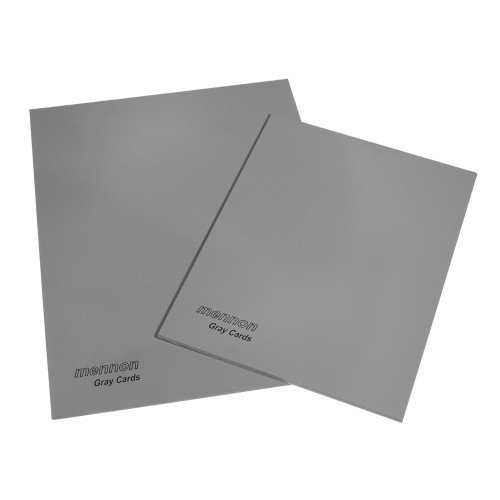"""Mennon Set Of 2 Gray Card's Size 6""""X8"""" And 8""""X10"""", 18% Gray / 92% White"""