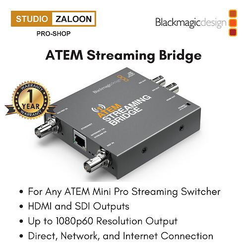 Blackmagic Design ATEM Streaming Bridge for ATEM Mini Pro Streaming Switchers