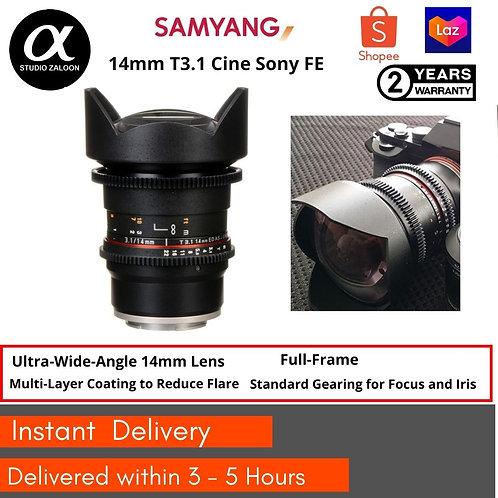 Samyang14mm T3.1 VDSLR II Cine Lens Sony FE