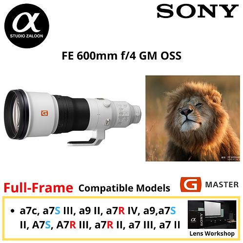 ( Pre-Order 3 Weeks ) Sony FE 600mm f/4 GM OSS Lens