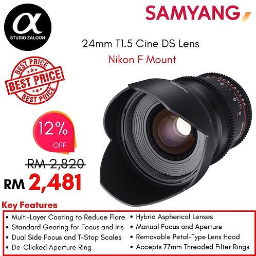 Samyang 24mm T1.5 Cine Lens for Nikon F-Mount