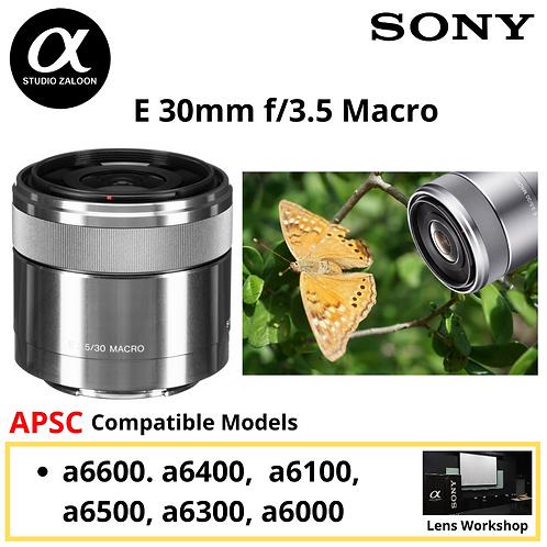 Sony SEL 30mm f/3.5 Macro Lens SEL30M35