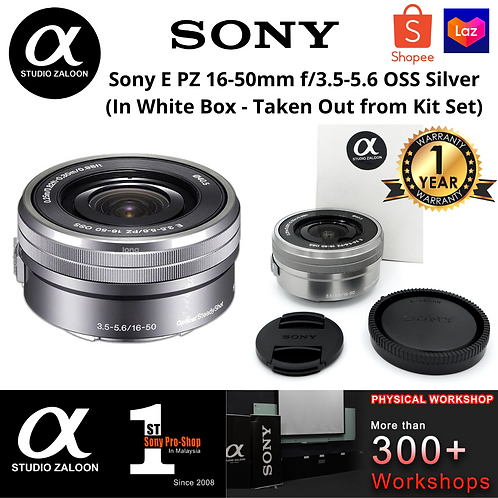 Sony E PZ 16-50mm f/3.5-5.6 OSS Silver  (In White Box - Taken Out from Kit Set)