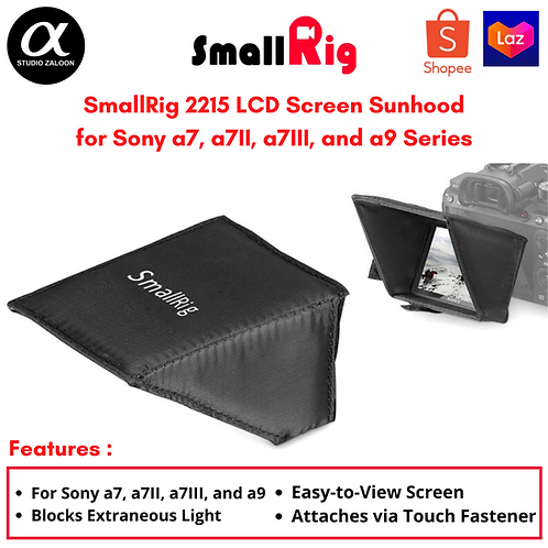 SmallRig 2215 LCD Screen Sunhood for Sony a7, a7II, a7III, and a9 Series Cameras