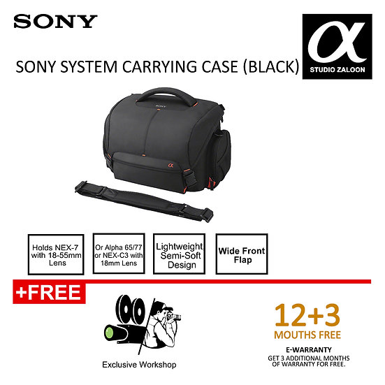 Pre-Orser 3 Weeks Sony LCS-SC21 System Carrying Case