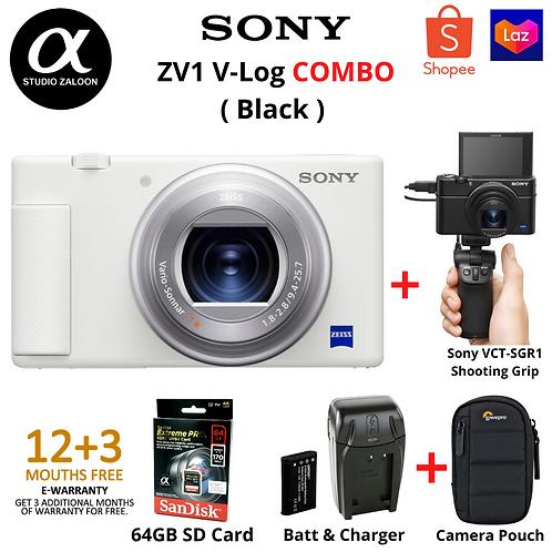 Sony ZV1 & VCT-SGR1 Shooting Grip Combo ( White )