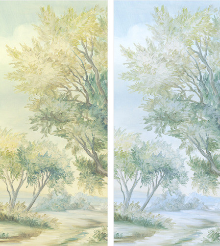 Hand Painted Mural Paper, Susan Harter