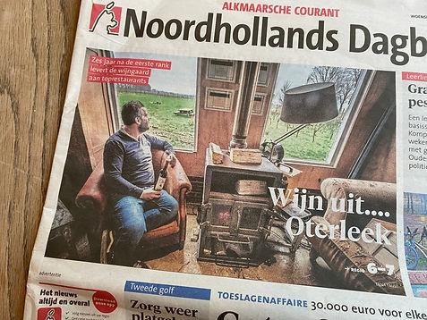 Noordhollands Dagblad, woensdag 23 december 2020, wijn uit Oterleek.jpg