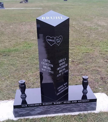 Rex Black Granite Cremation Pedestal