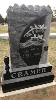 Custom Rock Pitched Granite Monument