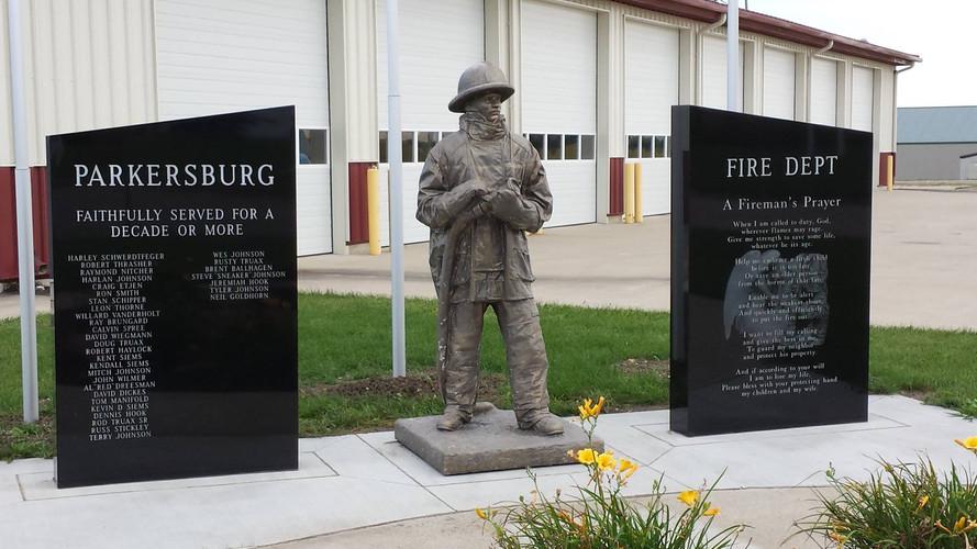 Rex Black Granite Fireman Memorial