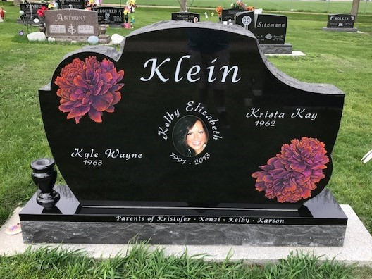 Rex Black custom stone with Colored Flowers