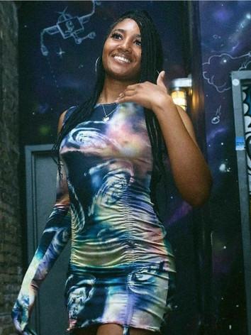Jenni exclusive ruched tank dress