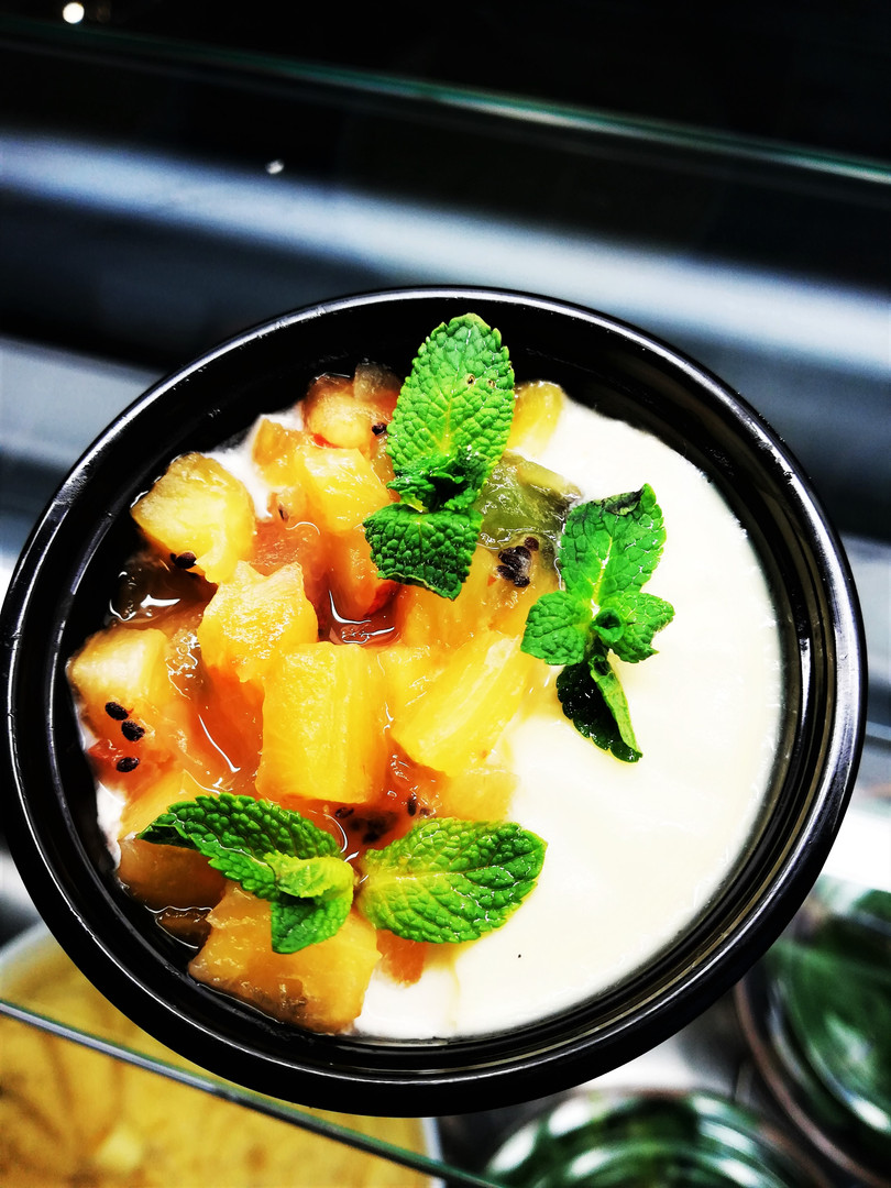 Panna Cotta fruits