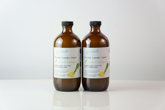 2 x Laundry liquid: Lemon and lemongrass