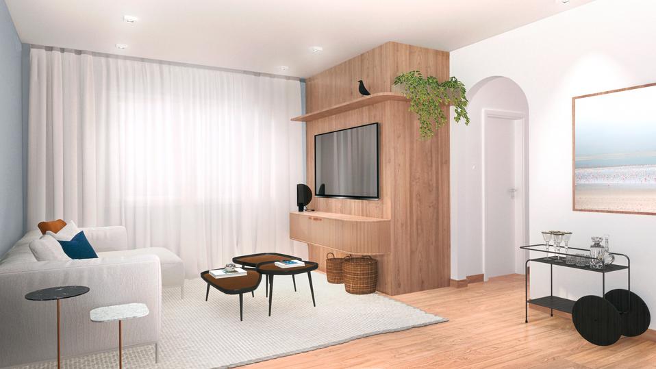 Sala de estar - Apto Indianópolis