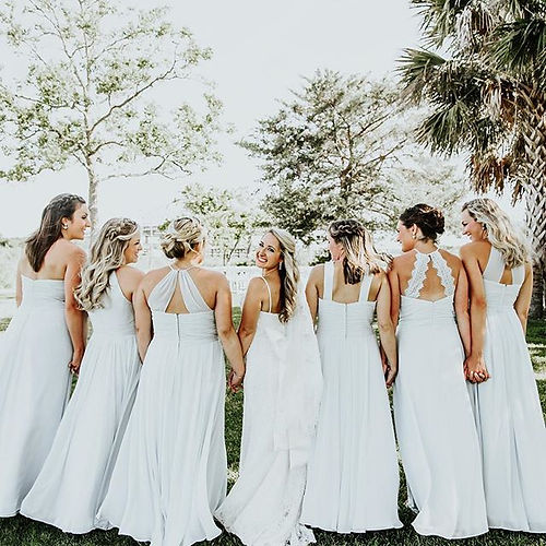 Team Bride 😉👰📷McKeelyCreative #charlestonbridalhairandmakeup #bridesmaidshairstyle #weddinghair #