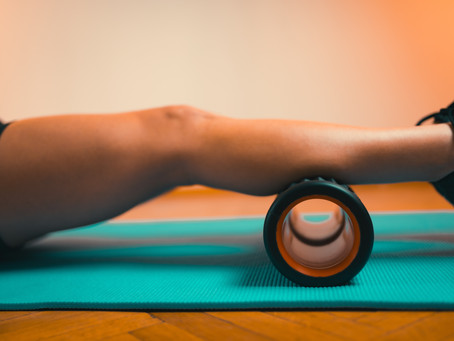 Using a foam roller during lock down
