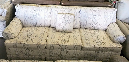 Like new white floral sofa