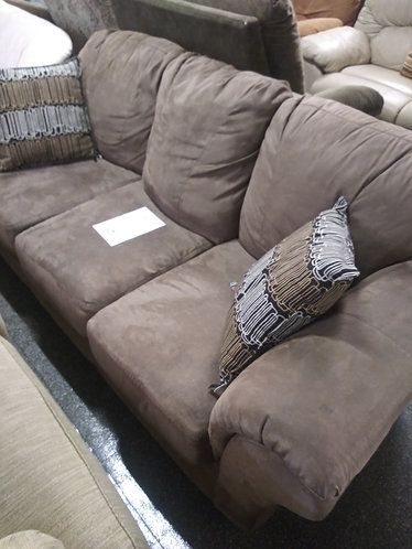 Affordable brown microfiber sofa