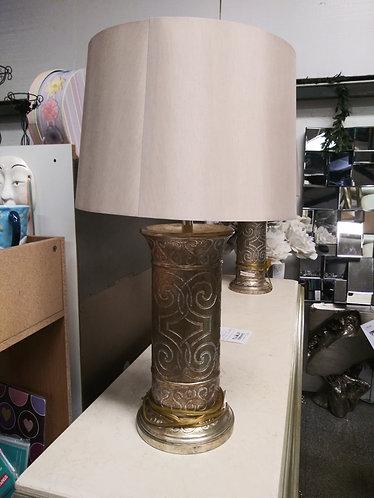 Set of 2 Gorgeous Gold Castilian Lamps