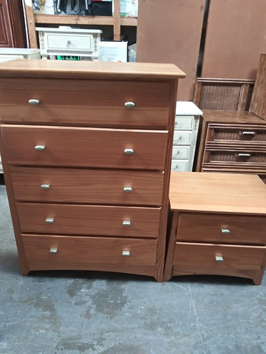 Like New Wood Dresser Set with Matching Queen Headboard