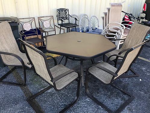 Lanai Set with 6 Chairs