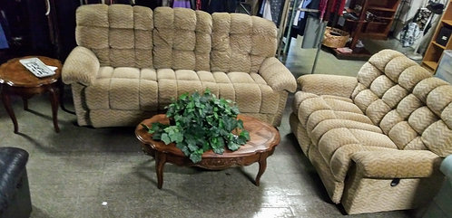 Very comfortable double reclining sofa and loveseat