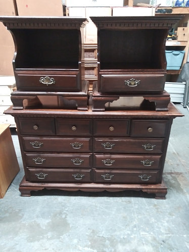 Dark Wood Dresser with 2 Matching Nightstands, AMAZING Condition!