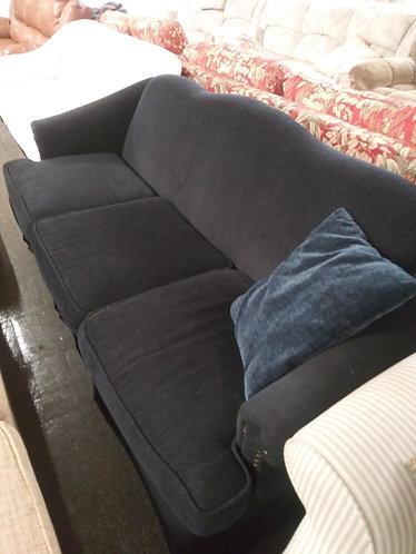 Navy Blue Cloth Sofa