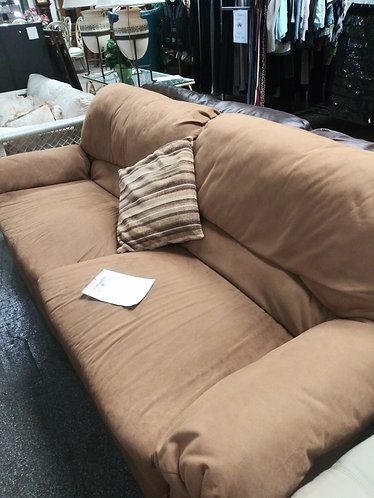 Affordable Orangish Brown Bassett Sofa