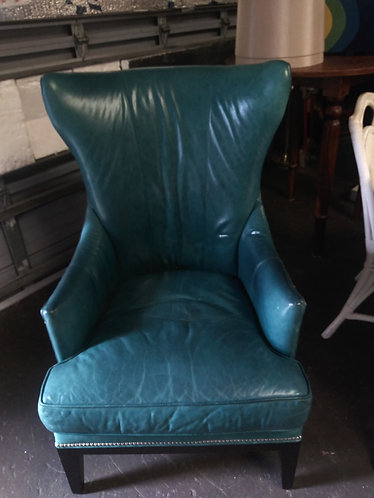 amazing   and affordable green Leather arm chair