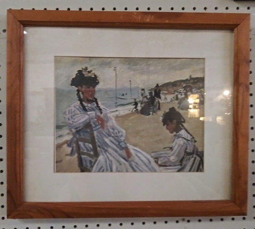 1800's era-based beach painting