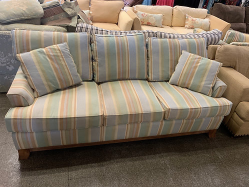 Striped Couch and Love seat with Arm Chair