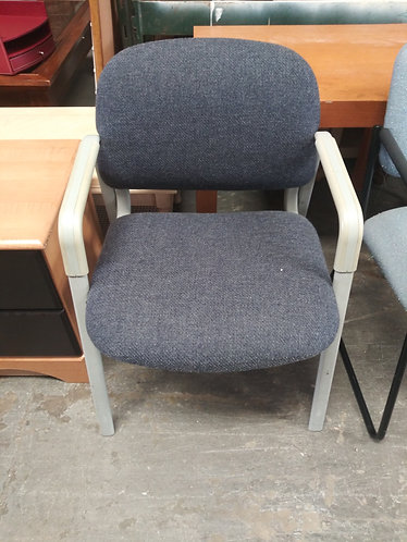 Navy blue and gray office chair