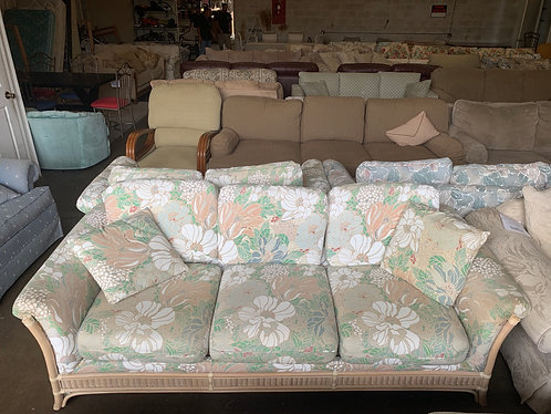 Floral Couch and Loveseat