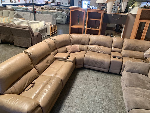 Leather Sectional with 2 Recliners