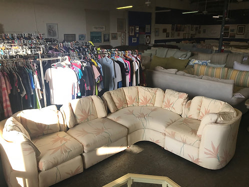 Floral Sectional Couch