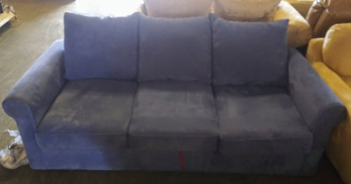 nice blue fabric sofa