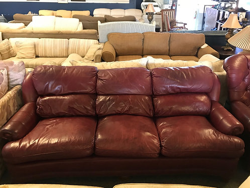 Thomasville Leather Couch and Arm Chair