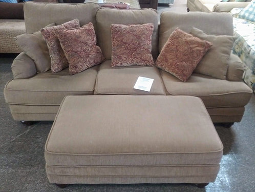 Great quality neutral colored sofa and ottoman