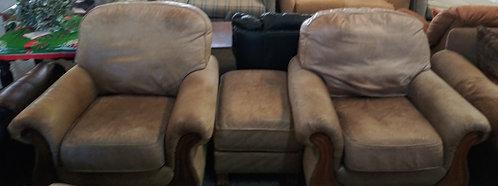 2 genuine leather Flexsteel arm chairs