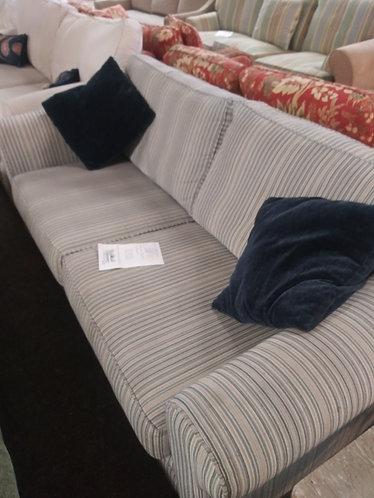 Good quality striped sleeper sofa