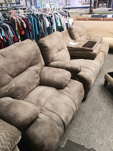 beautiful double recliner couch