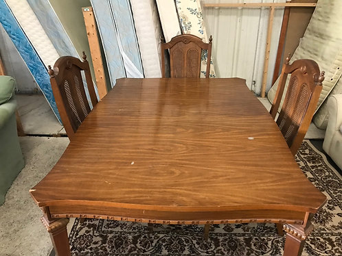 Solid Wood Table with 3 Chairs