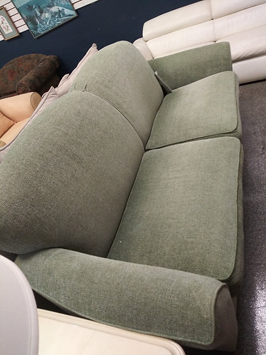 green suede sofa