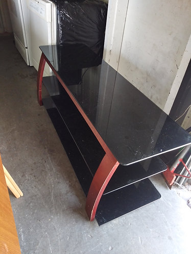 Nice black glass top TV stand