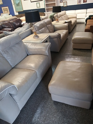 leather loveseat set