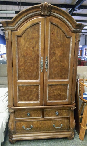 One of a kind solid wood armoire